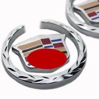 ats sticker - 3D car side Metal Badge Emblem Graphics for Cadillac Decal Sticker SRX ATS CTS XTS Silver color