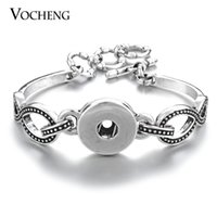 Wholesale VOCHENG NOOSA Snap Wrist Bracelet mm Interchangeable Jewelry NN