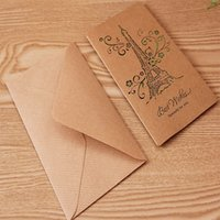 Wholesale Festival Greeting Card Hollow Kraft Paper for Birthday Christmas New Year Anniversary Thanksgiving Day Gift Cards Classic Patterns