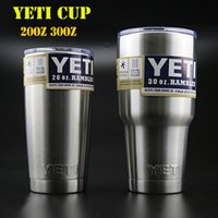 Wholesale Yeti cups stainless steel tumbler YETI double walled cup travel mugs Car Vehicle Beer Mugs Vacuum Insulated Refly oz oz oz oz