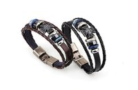 ancient greek fashion - Fashion charm bracelet Tungsten steel stone snakeskin strap the ancient Greek Crusades cross bracelet Both men and women jewelry