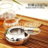 Wholesale New Stainless Steel Drum Shape Ashtray Cigarette Cigar Smoking Smoke Ashtray
