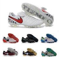 Wholesale New Soccer Shoes Tiempo Legend VI FG Football Boots Soccer Men High Quality Cleats Botas FG outdoor Football Soccer Shoes
