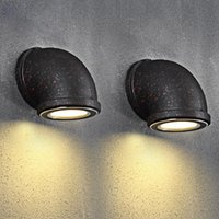 bedside water - RH Vintage Industrial Water Pipe Wall Lamps Loft W LED Wall Light for Bar Restaurant Wall Fixtures110V V Bedside Lighting