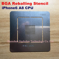 Wholesale BGA Reballing Stencil dedicate kit for iphone6 A8 CPU Directly Heating Reball Tool Stencils bga planted tin steel mesh