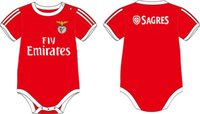 Wholesale 2016 New cotton Baby onesie romper soccer baby suit Benfica bebe oneise clothing for M free shippment