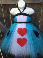 alice in wonderland dress designer - Alice in Wonderland Christmas party cosplay Girls TUTU Dress Customize Handmade Designer Organza Dress