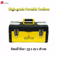 Wholesale High grade metal shell case tool case Mobile toolbox cm meter box suitcase file box instrument case suitcase