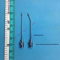 Wholesale 2Pc mm x mm Straight Bent Hand Feeding Rearing Gavage Crop Needle Medication Tube Cage Birds Mice Veterinary