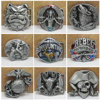 Wholesale Free DHL Classic Gothic D Vintage Terror Skull Metal Belt Buckle Novelty Charm Styles Jeans Decorative Belt Buckle E874L