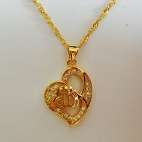 arabic gold jewelry - Heart Allah Pendant Necklace Islam Jewelry Women Muslim Item K Gold Plated Muslim Gift Arabic Charm Girl Mom Mama
