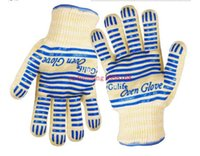 bbq logo - 50pcs ECO Friendly Ove Glove Oven Hot Surface Handler BBQ Hold For Kitchen Microwave With Logo Packing