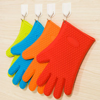 Wholesale Hot Sale Silicone Home Gloves Cooking Baking BBQ Gloves Holder Silicone Kitchen Cooking Gloves Microwave Oven Non slip Mitt Heat Resistant