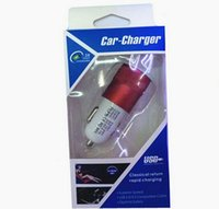Wholesale Newest Metal Alloy Shell Universal Dual USB Port Car Charger Auto Charging adapter For Apple iphone5 s plus s7 edge plus with retail box