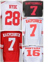 Wholesale Colin Kaepernick Montana HYDE New Arrivals Hot Mens Elite ers White Football Jerseys Stitched Name Number Free Drop Ship