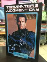 Wholesale newewt toy NECA Terminator Judgment Day T Arnold Schwarzenegger PVC mighty the warriors children best birthday gift toy doll T5256