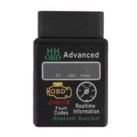 Wholesale Mini ELM327 V2 Bluetooth HH OBD Advanced OBDII OBD2 ELM Car Diagnostic Scanner code reader scan tool for Android