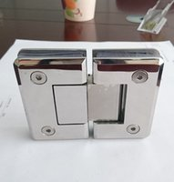 Wholesale factory price ss mirror degree bevel shower door fitting glass clamp
