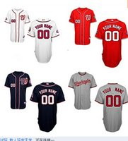 Wholesale Custom Washington Nationals Jersey white Personalized Baseball Jersey Stitched Accept Any Name Any Number Size M XXXL