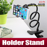 arm stands - 360 Rotating Flexible Long Arm cell phone holder stand lazy bed desktop tablet car selfie mount bracket iphone samsung s6 s7 edge