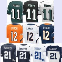 Wholesale Men s Elite Jerseys Carson Wentz Paxton Lynch Deion Sanders Stitching Embroidery jersey top quality