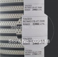 Wholesale YAGEO SMD Resistor sample book values X Samples kit guarranty