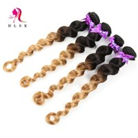 Wholesale Malaysian Ombre Blond Loose Weave Virgin Hair Bundles Bundles Loose Wave Hair Products Malaysian Double Weft Hair Weave