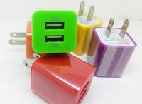 Cheap Dual USB Wall Charger Universal Home Travel Power Adapter Adaptor Charging 1A 2.1A US EU Plug for iPhone 5 6 Samsung HTC