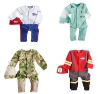 baby boy camo - Baby tracksuits Boy outfits rompers hat set Baseball Button Bodysuit Long sleeve cotton camo baby clothes Autumn