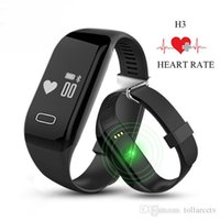 vibrating bracelet - Authentic H3 Smartband Heart Rate Monitore Smart Wristband Bracelet Health Wrist Watch Call Alarm Vibrating for xiomi Android ios phone