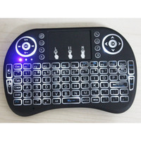 Wholesale 2016 New Arrival Mini Wireless Keyboard I8 Fly Air Mouse Multi media Remote Control Touchpad for PC Notebook Android TV Box Freeshipping DHL