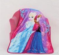 Wholesale jb DHL SF EXPRESS Snow Queen Blanket Throw Princess Elsa Kids Flannel Blankets Cartoon Printed cm Blanket Baby Children Gifts