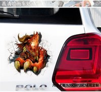 animals body covering - 3D stereoscopic car stickers car stickers car stickers magical mailbox cover cover the smalThe d sticker magic d car stickers