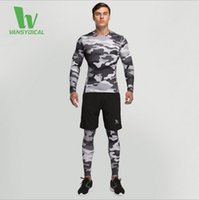 Wholesale Latest vansydical Workout clothes suit male sports running tights leggings breathable quick drying shirt three piece
