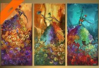 abstract paintings for sale - Hot sales oil painting three pictures combination modern abstract dancer triples oil paintings for wall decoration
