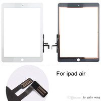 Wholesale 2016 Original Quality For Ipad Air Tablet Touch Screen Panel Digitizer Flex with Home Button Adhesive Assembly Black white Free DHL