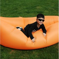 Wholesale Hot Hangout Sofa Fast Inflatable Air Lazy Orange Sleeping Bag Camping Lay Bed Storage Bag Outdoor Gear