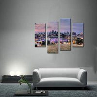 art kansas city - 4 Picture Combination Buildings Of Kansas City With Wide Square Wall Art Painting Pictures Print On Canvas City Home Decoration