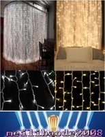 Wholesale 2016 NEW X3meter LEDs Curtain Lights UL Rosh CE Approval Pure Copper Wire String Fairy Sparkle Lights Wedding Party Concert Decoration