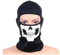 Wholesale Sports Game Cosplay Mask Hood Ghost Skull Balaclavas Skiing Airsoft Paintball Winter Men Ghost Beanies Hats Full Face Mask