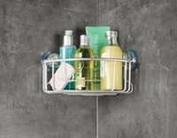 aluminum wall shelves - DHL aluminum corner storage basket with strong suction cups