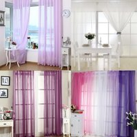 Wholesale 229 x cm Organza Fabric Solid Curtain Voile Valance for Window Door Divider Room Decoration Colors