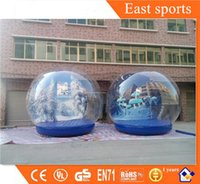 Wholesale Colorful PVC inflatable Christmas product take photo Snow Globe