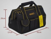 Wholesale cm canvas tool Bags Close Top Wide Mouth Electrical canvas tool bags