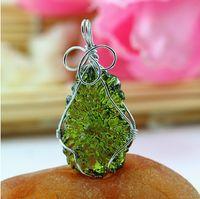 aa pendant - necklace Aa natural moldavite green aerolites crystal stone pendant energy apotropaic4