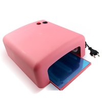 Wholesale UV Gel Nail Art Lamp Dryer Manicure Light Gellish Curing Timer W x W Blubs DIY Nail Beauty