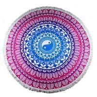 ba gua - Beach Towel_Taoism Ba gua Printed Round Microfiber Towel for Bath Swim