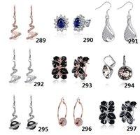 Wholesale 50pcs E3 Christmas gift silver fashion Earrings Women Supplies Fashion Jewelry Charm Stud Earrings beautiful Christmas gift