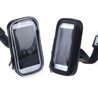 Wholesale Hot Sale quot Waterproof Motorcycle Rear View Mirror Mount Case For Phone GPS Foam Pads