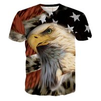 american flag tees for women - fashion Harajuku Newest Eagle USA American Flag D Print T Shirts Short Sleeve Tops Tee for Men Women Causal Tee Shirts